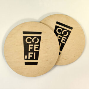 """Cofe.fl"" cup coaster by Vizinform"