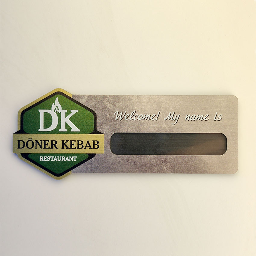 Doner kebab badge
