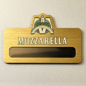 """Mozzarella"" badge by Vizinform"