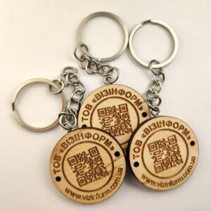 Promotional keychains of Vizinform company by Vizinform